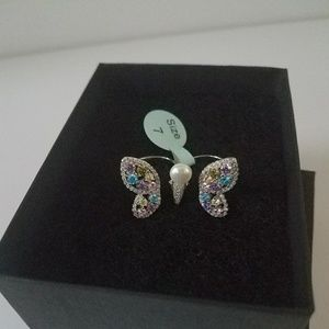 Jewelry - Butterfly Double Finger Ring - Size 7